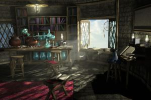 Wizard's Study: 1 of 3 by NightsongWS