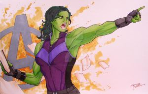 She-Hulk by KidNotorious