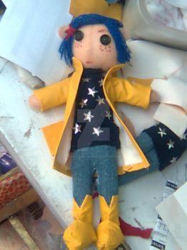 coraline plushie by chaos-dark-lord
