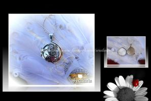 'Dearest treasure' sterling silver locket pendant by seralune