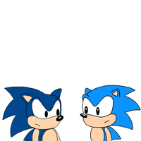 Classic American Sonic and Classic Japanese Sonic by MarcosPower1996
