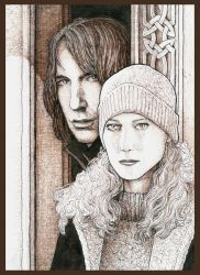 Lily and Snape by PetaloMaM