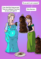 Elsa and Anna - Weight Gain PART 2/5 (Commission) by xmasterdavid
