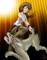 Laura and The Wolf 01 by Cicada-Media