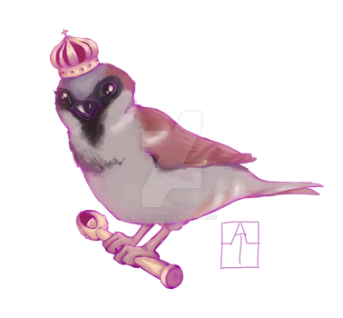 Crowned Sparrow by AikoIwahara