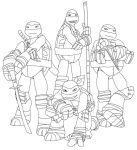 Tmnt-2012- coloring by vasilia95