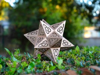 Dodeca-star with Celtic Knot Cutouts by tetravariations
