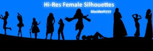 Hi-Res Female Silhouette Brush by blackbelt777