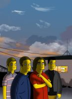 Jimmy Eat World as Simpsons 2 by Jimmy-Ate-My-World