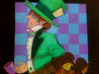 Mad Hatter Half Card by DaggerCat