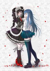 Sayaka Maizono and Celestia Ludenberg by Sugarthemis