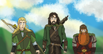 Looking for the Hobbits - LOTR Ghibli Style by Juggernaut-Art