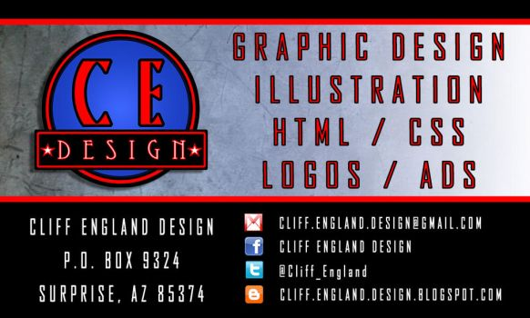Business-card-2 - Cliff England Design by CliffEngland