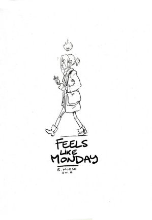 Feels Like Monday - title page by Pika-la-Cynique