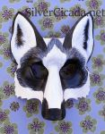 Marble Fox Leather Mask by SilverCicada