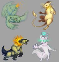 Pokemon Sketches by 8bitjay