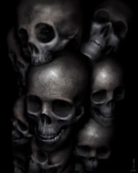 Tower of Skulls by M-Amey