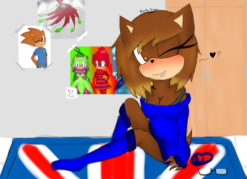 Axelle.C in her room by Axelle-the-hedgehog
