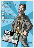 Dwight K Shrute by stayte-of-the-art