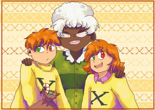 Edna and X Twins by aronora