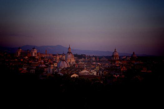 View at roofs of Rome by Fuchsia-Groan