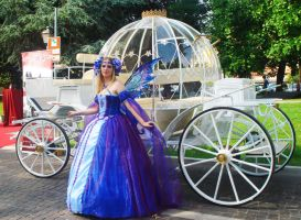 A fairy near Cinderella's carriage by LadyAmber