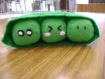 Cute Pea Pod Plush by ukulelecrazy