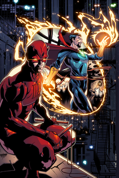 Daredevil and Dr. Strange by AlonsoEspinoza