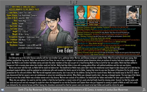 [Earth-27: Oracle Files] Eve Eden (Page 1/2) by Roysovitch