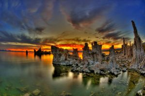 Mono Lake Sunrise by merzlak