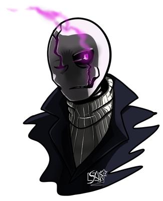 WD Gaster use mean look by Rhay-Robotnik