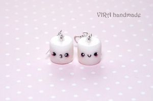 Kawaii marshmallow earrings by virahandmade