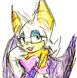 Rouge, a character i enjoy drawing by LillyGeneva