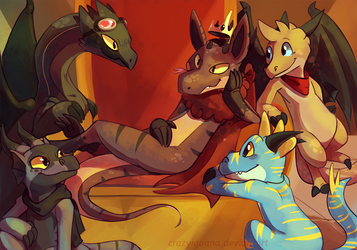 The King and his Court by CrazyIguana