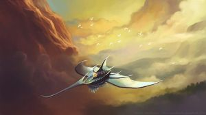 Flying ship by vandervals