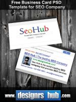 Free Business Card PSD Template for SEO Company by MGraphicDesign