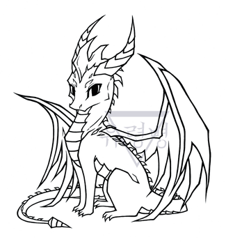 Spyro the Handsome Boi [lineart] by GeistVIRUS
