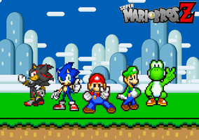 340. Super Mario Bros. Z Team by BeeWinter55