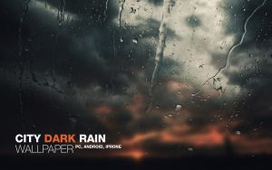 City Dark Rain Wallpaper by Martz90