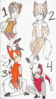 Pokemon Gijinka Adopts #2 CLOSED by AngelicKatWolfLover