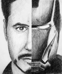 Iron man by RebeccaGriffithsArt