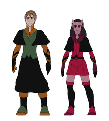Aerdian And Felliday Redesigns by DevisedLateott
