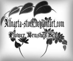 Flower Brushes set by allnarta-stock