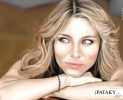 Elsa Pataky speed painting by Daviddleonluis