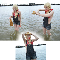 Applejack at the beach 15 by shelle-chii
