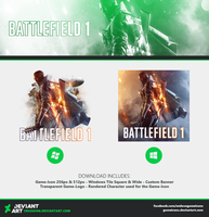 Battlefield 1 - Icon + Media #2 by Crussong