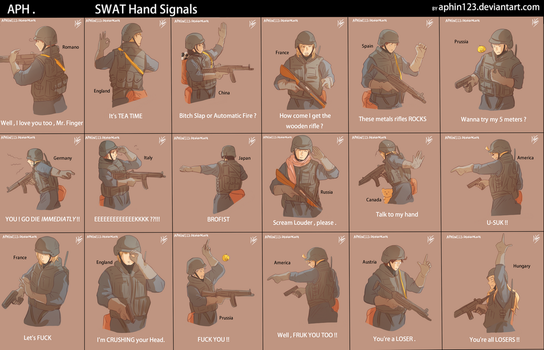 APH -- SWAT Hand Signals by aphin123