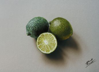 3D Drawing: Limes by marcellobarenghi