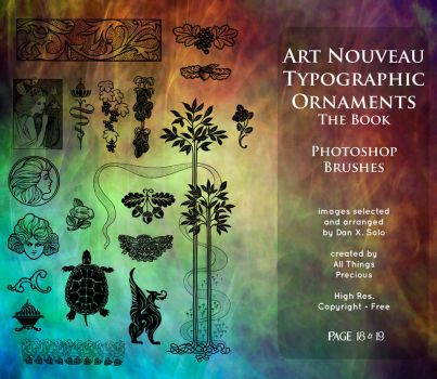 Page 18 and 19 Art Nouveau Ornaments by AllThingsPrecious