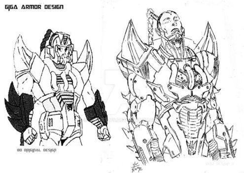 GIGA MASTERFORCE SERIE DESIGN by Robot1979